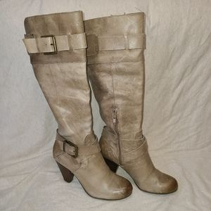 Arturo Chiang Distressed Leather Knee Boots